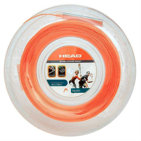 Head Evolution Pro 17 Squash String Mini Reel (Orange) - RacquetGuys.ca