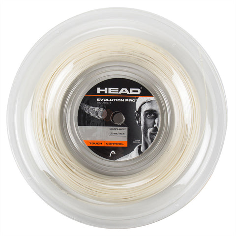 Head Evolution Pro 17 Squash String Mini Reel (White) - RacquetGuys.ca
