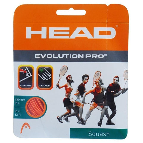 Head Evolution Pro 16 Squash String (Orange) - RacquetGuys
