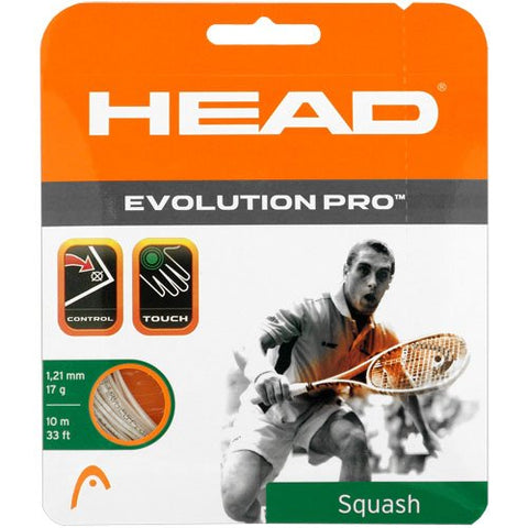 Head Evolution Pro 17 Squash String (White) - RacquetGuys.ca