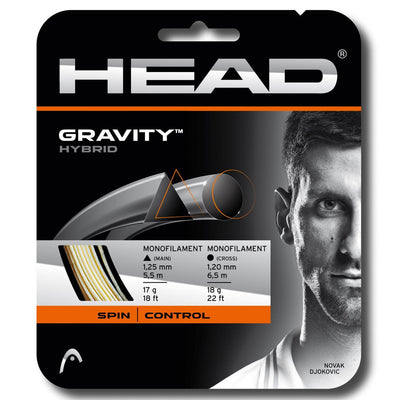 HEAD Gravity 17 Hybrid Tennis String (White/Anthracite)