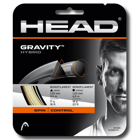 Head Gravity (Triangular 17 / Round 18) Hybrid Tennis String - RacquetGuys.ca