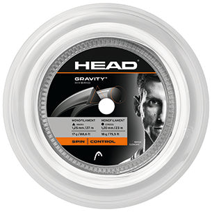 HEAD Gravity 17 Hybrid Tennis String Mini Reel (White/Silver) - RacquetGuys