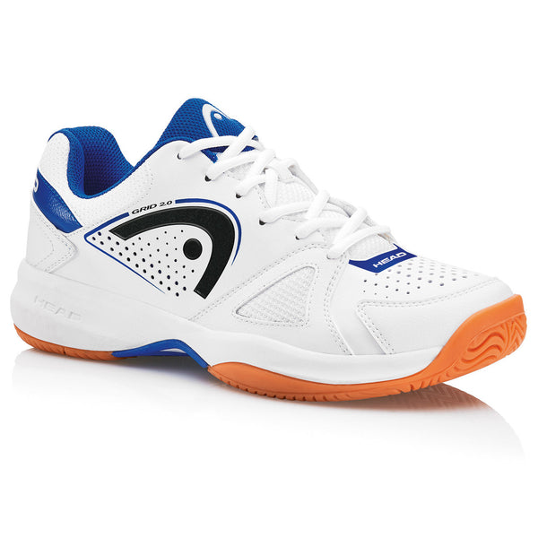 Head Grid 2.0 Mens Indoor Court Shoe (White/Navy) - RacquetGuys.ca