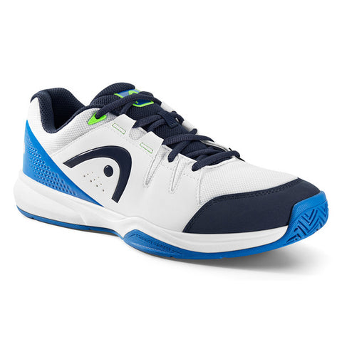 Head Grid 3.0 Mens Indoor Court Shoe (White/Blue) - RacquetGuys