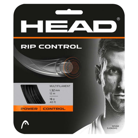 Head RIP Control 16 Tennis String (Black) - RacquetGuys
