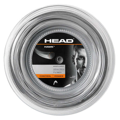 HEAD Hawk 17 Tennis String Reel (Grey)