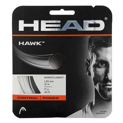 Head Hawk 17 Tennis String (White) - RacquetGuys