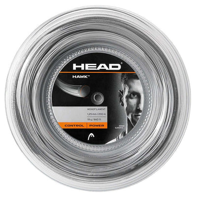 HEAD Hawk 18 Tennis String Reel (Grey)
