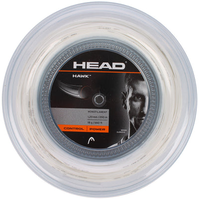 HEAD Hawk 18 Tennis String Reel (White)