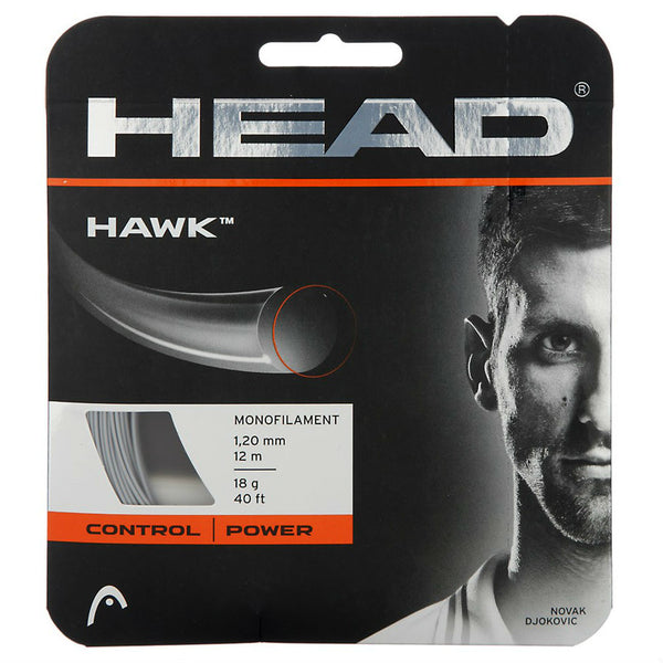 Head Hawk 18 Tennis String (Silver) - RacquetGuys