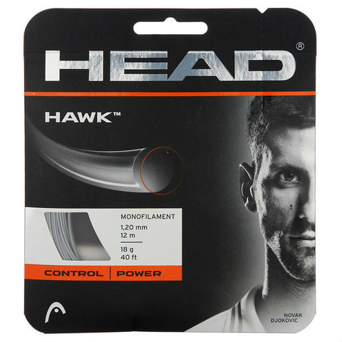 Head Hawk 18 Tennis String (Silver) - RacquetGuys.ca