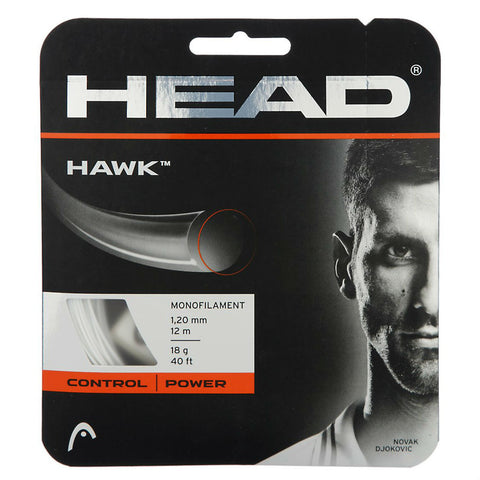 Head Hawk 18 Tennis String (White)