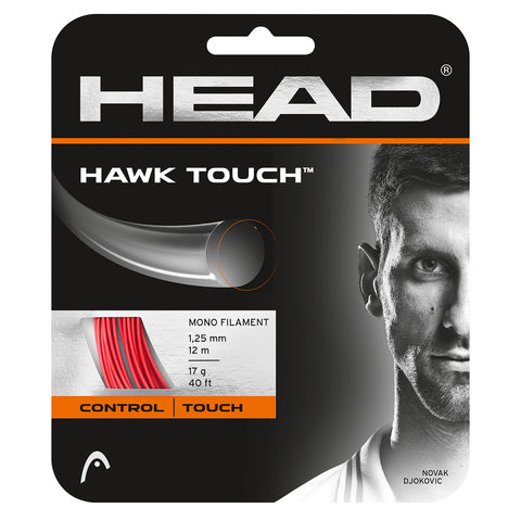 Head Hawk Touch 17 Tennis String (Red) - RacquetGuys.ca