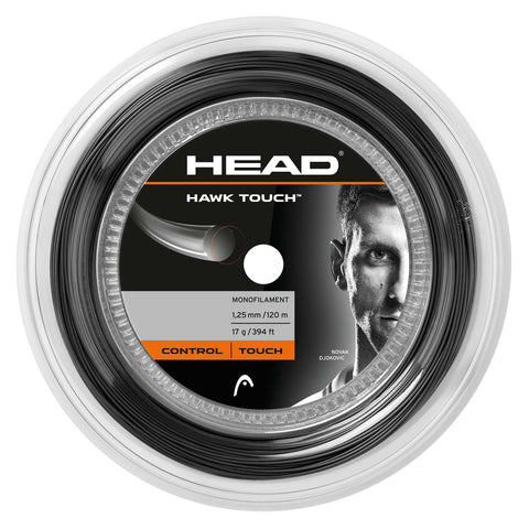 HEAD Hawk Touch 17 Tennis String Mini Reel (Anthracite) - RacquetGuys