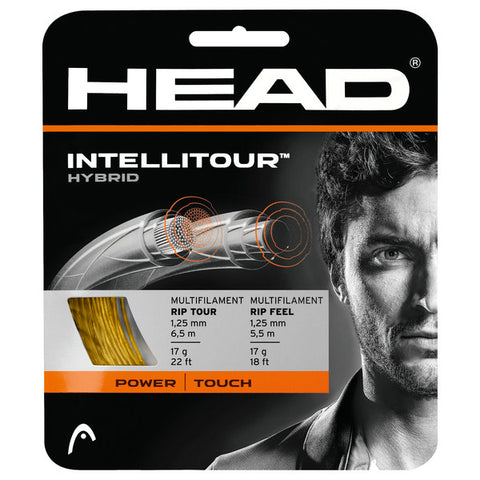 HEAD IntelliTour 17 Tennis String (Yellow/Natural) - RacquetGuys