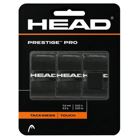 Head Prestige Pro Overgrip 3 Pack (Black) - RacquetGuys