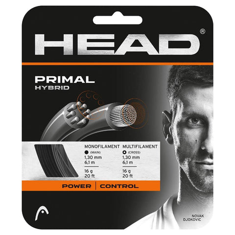 HEAD Primal 16 Hybrid-Tennis String (Black/Anthracite) - RacquetGuys