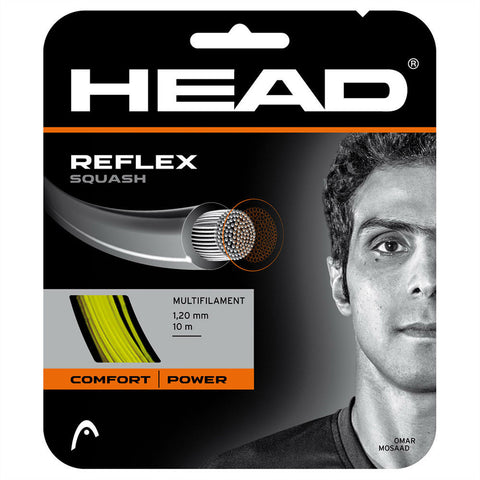 Head Reflex 20 Squash String (Yellow) - RacquetGuys.ca