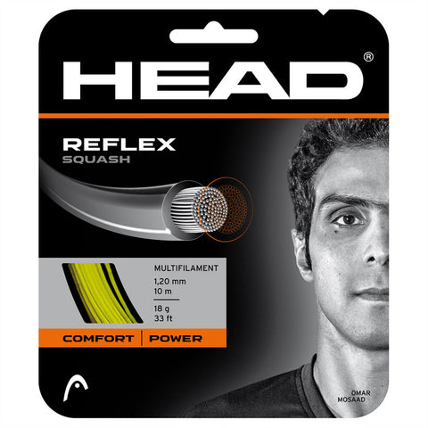 Head Reflex 18 Squash String (Yellow) - RacquetGuys.ca