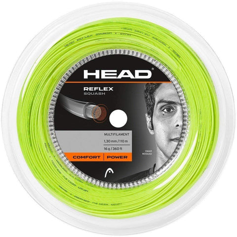 Head Reflex 18 Squash String Mini Reel (Yellow) - RacquetGuys.ca