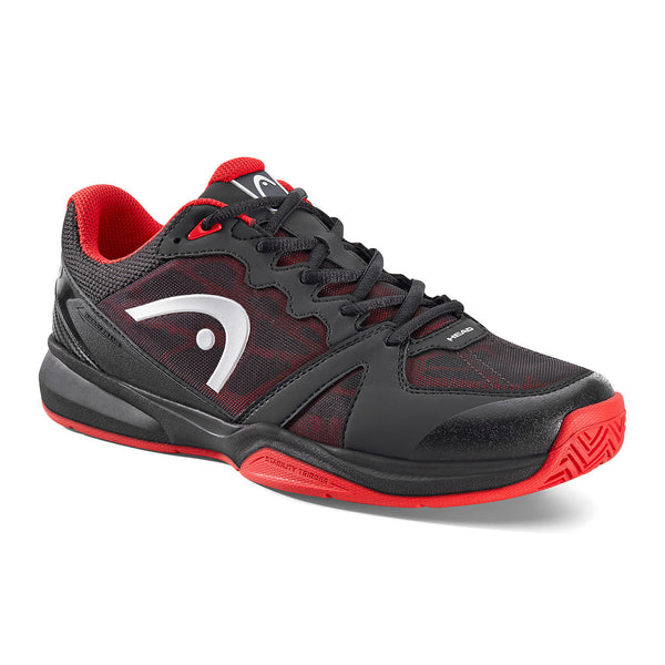 Head Revolt Mens Indoor Court Shoe (Black/Red) - RacquetGuys