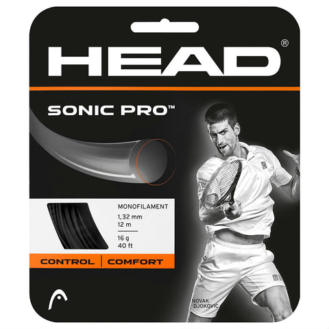 Head Sonic Pro 16 Tennis String (Black) - RacquetGuys.ca