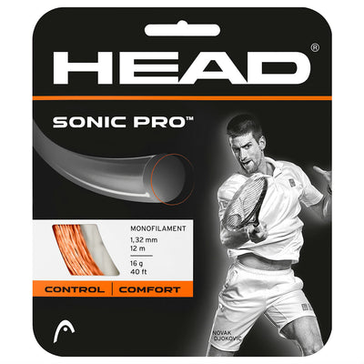 HEAD Sonic Pro 16 Tennis String (Orange)