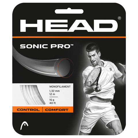 Head Sonic Pro 16 Tennis String (White) - RacquetGuys.ca