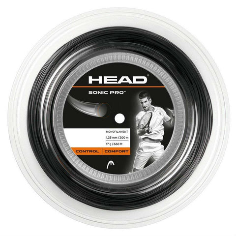 HEAD Sonic Pro 17 Tennis String Reel (Black) - RacquetGuys