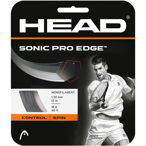 Head Sonic Pro Edge 16 Tennis String (Anthracite) - RacquetGuys.ca