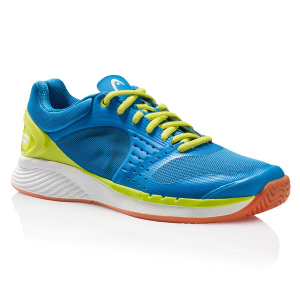 Head Sprint Pro Men's Indoor Court Shoe (Blue/Lime) - RacquetGuys