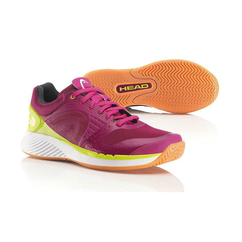 Head Sprint Pro Womens Indoor Court Shoe (Berry/Yellow) - RacquetGuys