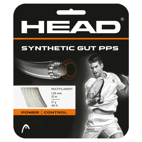 Head Synthetic Gut 17 PPS Tennis String (White) - RacquetGuys