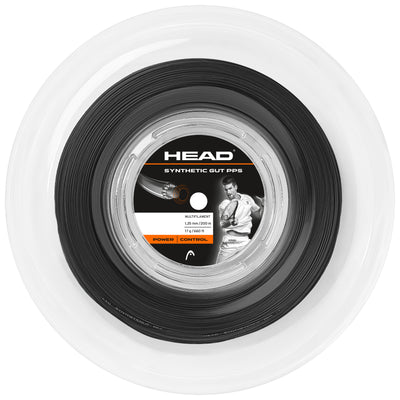 HEAD Synthetic Gut 16 PPS Tennis String Reel (Black)