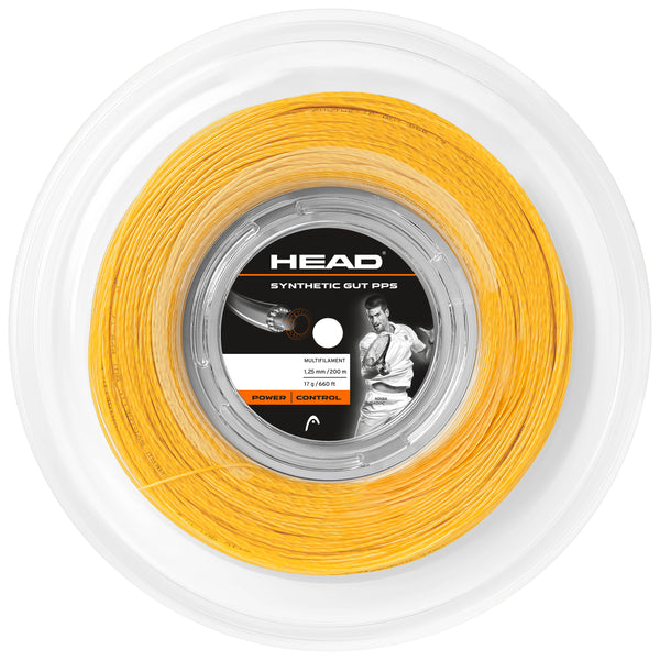 Head Synthetic Gut 17 PPS Tennis String Reel (Gold) - RacquetGuys