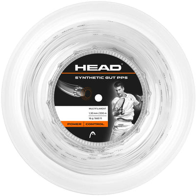 HEAD Synthetic Gut 16 PPS Tennis String Reel (White)