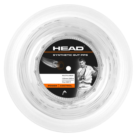 Head Synthetic Gut 17 PPS Tennis String Reel (White)