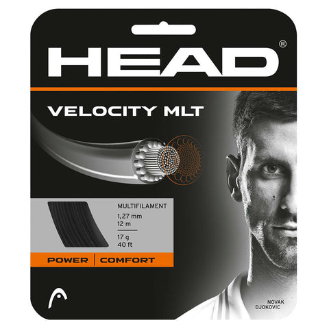 Head Velocity MLT 17 Tennis String (Black) - RacquetGuys.ca
