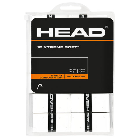 Head Xtreme Soft Overgrips 12 Pack (White)