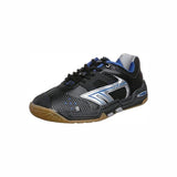 Hi-Tec S702 Men's Indoor Court Shoe (Black/White/Blue) - RacquetGuys.ca