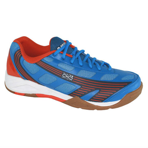 Hi-Tec Infinity Flare Mens Indoor Court Shoe (Blue/Tangelo/Navy) - RacquetGuys.ca