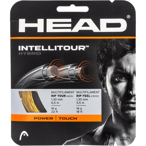 HEAD IntelliTour 16 Tennis String (Yellow/Natural) - RacquetGuys