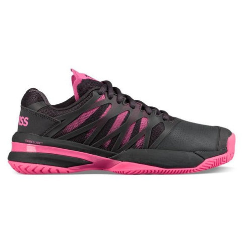 K-Swiss Ultrashot Womens Tennis Shoe (Magnet/Neon Pink)