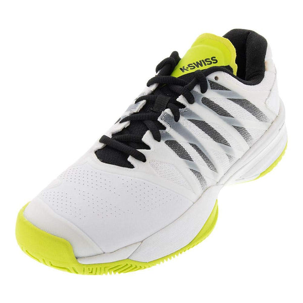 K-Swiss Ultrashot 2 Men's Tennis Shoe (White/Black/Neon Yellow) - RacquetGuys