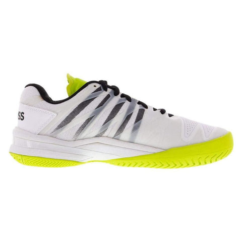 K-Swiss Ultrashot 2 Men's Tennis Shoe (White/Black/Neon Yellow) - RacquetGuys.ca