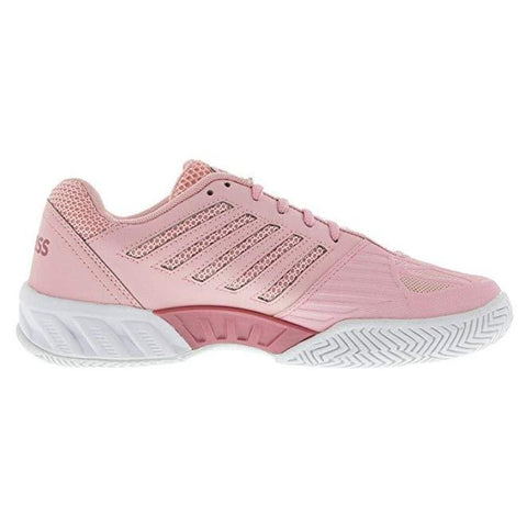 K-Swiss BigShot Light 3 Women's Tennis Shoe (Coral Blush/White) - RacquetGuys.ca
