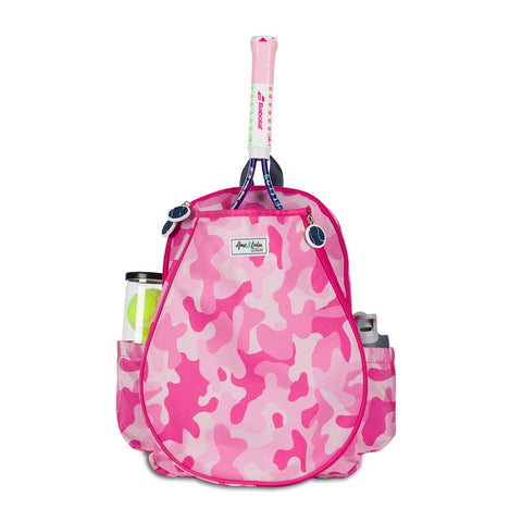 Ame & Lulu Little Love Tennis Junior Backpack Racquet Bag (Pink Camo) - RacquetGuys
