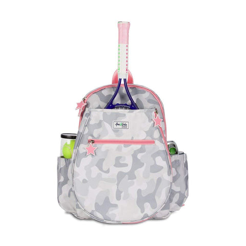 Ame & Lulu Little Love Tennis Junior Backpack Racquet Bag (Grey Camo) - RacquetGuys.ca
