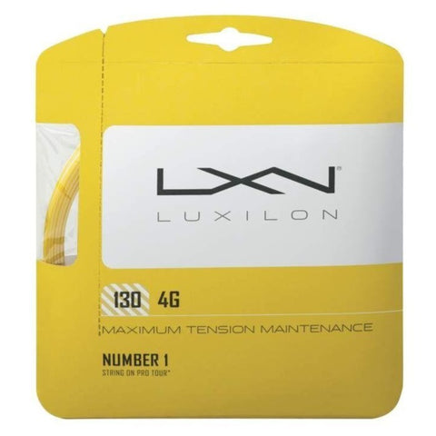 Luxilon 4G 16 Tennis String (Gold) - RacquetGuys